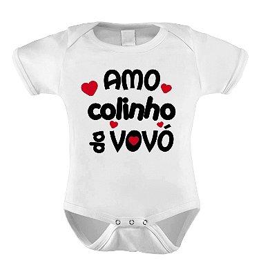 Body ou Camiseta Personalizada - Amo Colinho da Vovó