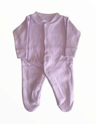 Macacão Bebê Prematuro Suedine Manga Longa - Lilás
