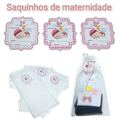 Saquinhos de maternidade -3 unidades de menina