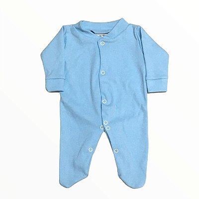 Macacão Suedine Azul Bebê - Linha Prematuro