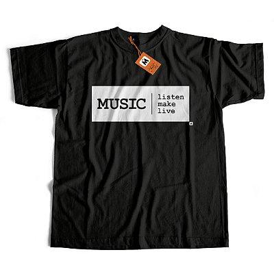 Camiseta Music Listen