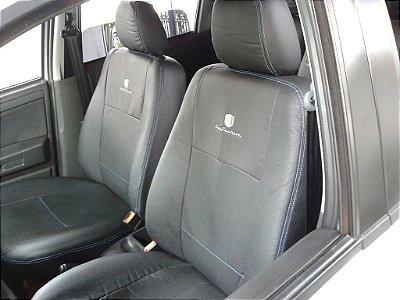 Capa Banco em Couro Reconstituído Preto Ford Ecosport até 2012/12 CarFashion