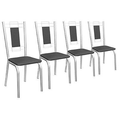 Conjunto De Cadeiras Florença 4 Peças C005 Crome