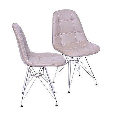 Conjunto de 2 Cadeiras 1110CR - Or Design - Fendi