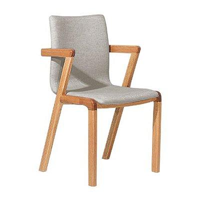 Cadeira Moderna de Jantar Cozinha Natural Suede Cinza Claro Hug