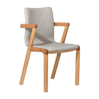 Cadeira para Sala de Estar Natural Suede Cinza Claro Hug