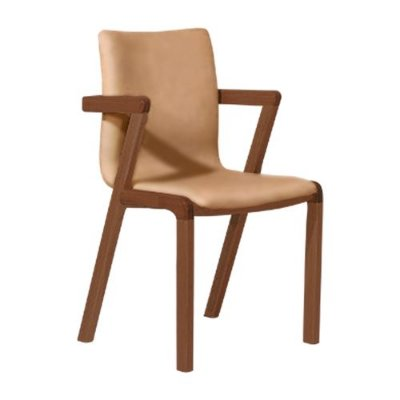 Cadeira para Sala de Estar Castanho Corino Caramelo Hug - Renove