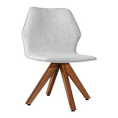 Cadeira Moby Castanho Algodão Rústico Branco Gelo