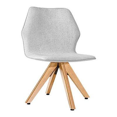 Cadeira Moby Natural Algodão Rústico Branco Gelo