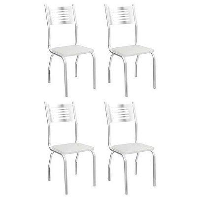 Cadeira Munique Cromada De Metal 4 Peças 4c047 Crome