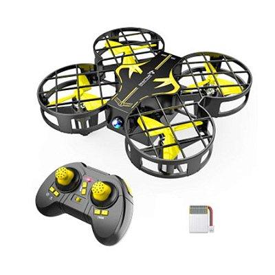 Drone Portátil Mini 3 Baterias Distancia do voo de 30 Metros
