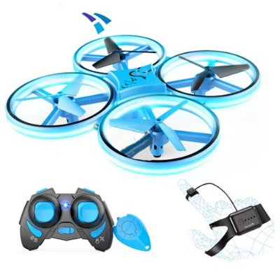 Mini Drone para Crianças SNAPTAIN Voo de 50 metros Cor Azul