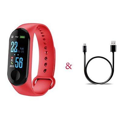 Relógio Unissex Inteligente Smartwatch M3pro com Monitor de Frequência Cardíaca