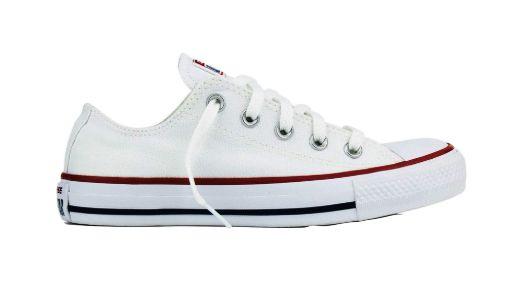 Tênis Converse All Star Chuck Taylor Tecido cor Branco