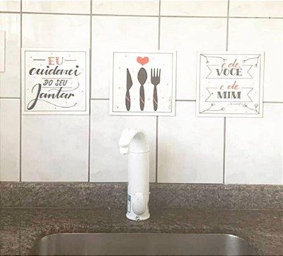 Trio de quadros para cozinha