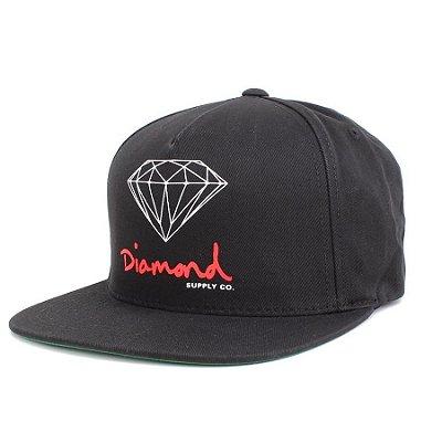 BONÉ DIAMOND OG SIGN SNAPBACK BLACK