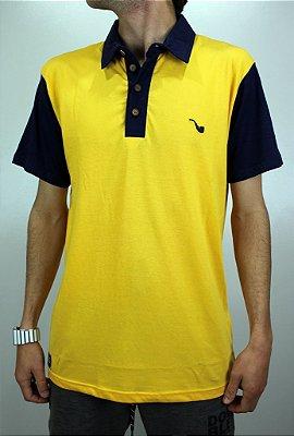 Camisa Blaze Polo Amarelo/Azul