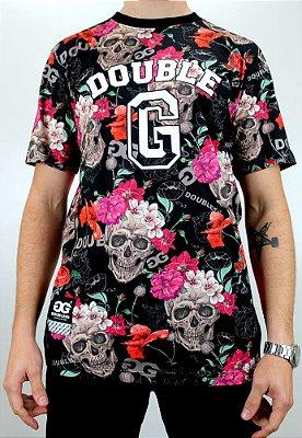 Camiseta Double G Skull Roses