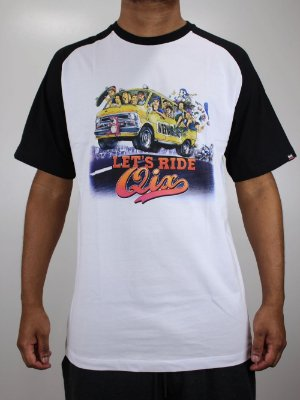 Camiseta Qix Raglan Lets Ride