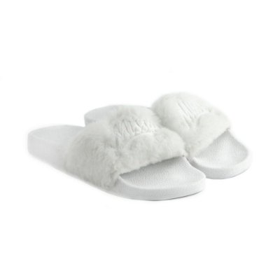 Chinelo Qix MISSY Slide Branco Fluffy
