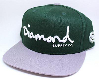 Boné Diamond OG Script Snapback Green