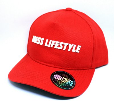 Boné Mess Life Style Vermelho aba curva