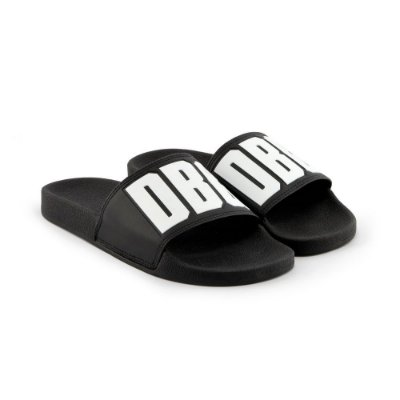 Chinelo Double-G Slide Preto DBG