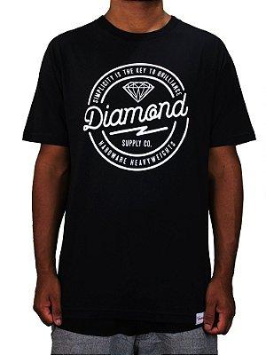 Camiseta Diamond Bolted Tee Black