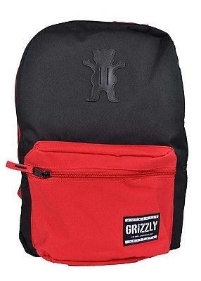 Mochila Grizzly Og bear Preto/vermelho