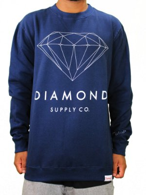 Moletom Diamond Brilliant Crewneck