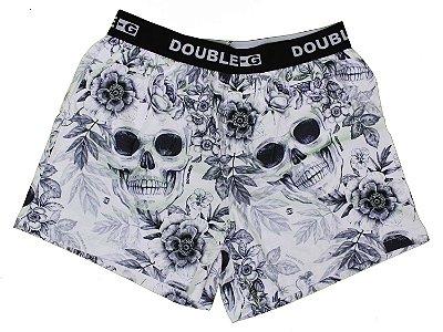 Cueca Samba Canção Double-G Roses Skull Black