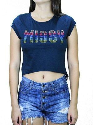 Camiseta Qix Missy Print
