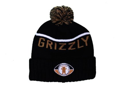 Touca Grizzl Draft Pom Beanie Black