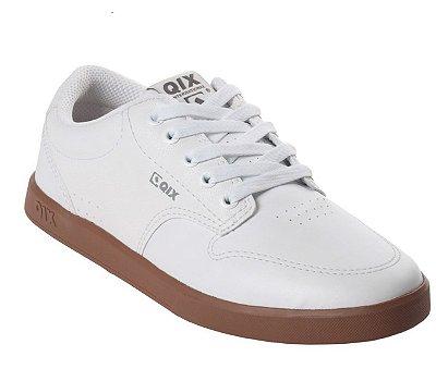 Tênis Qix Base Branco/Caramelo