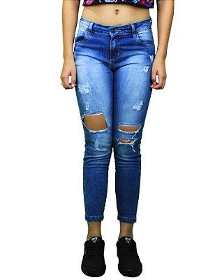 Calça Qix Missy Jeans Rasgado