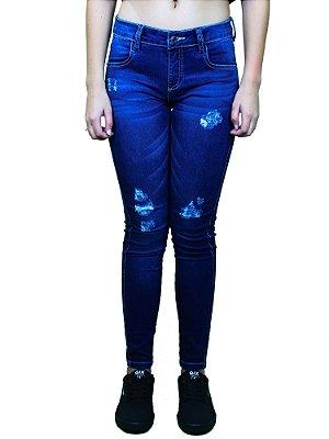Calça Qix Missy Jeans Marinho Escura
