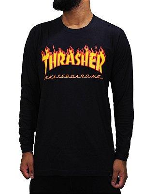 Camiseta Thrasher Flame manga longa Basic