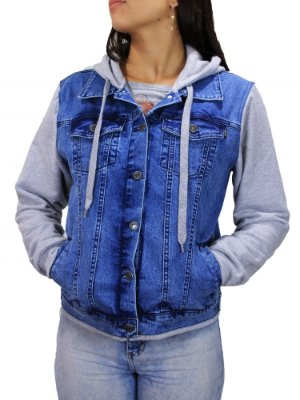 Jaqueta Qix Missy Jeans C/ Capuz