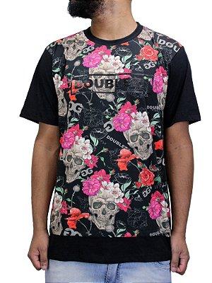 Camiseta Double-G Caveira Raglan