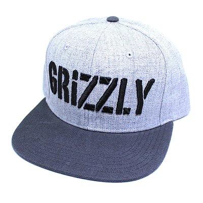 Boné Grizzly Stamp Cinza Snapback