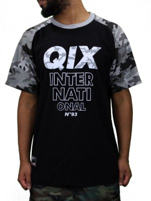 Camiseta Qix International Raglan Camuflada