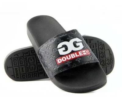 Chinelo Double-G Slide Preto Logo