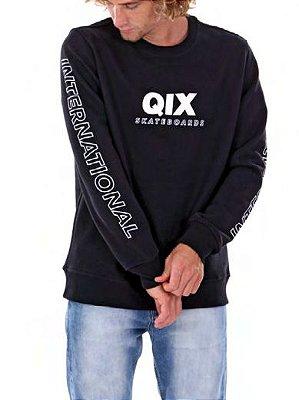 Moletom Qix International Skt Preto