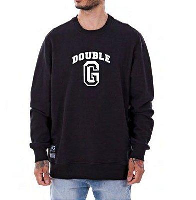 Moletom Double-G College Logo Preto