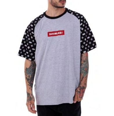 Camiseta Double-G Red Box Raglan mescla