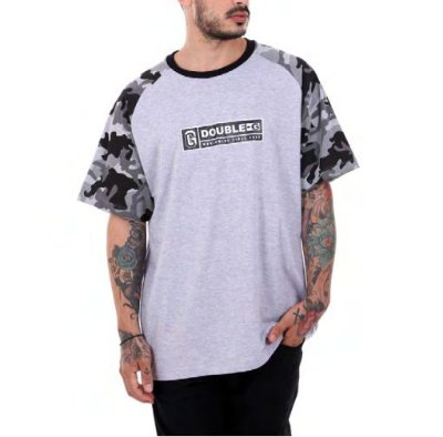Camiseta Double-G worldwide camo raglan Mescla