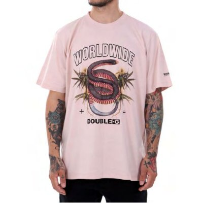Camiseta Double-G Hemp Snakes Rose