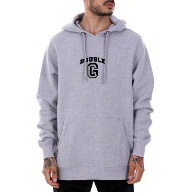 Moletom Double-G College Logo Grey