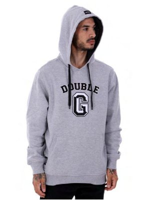 Moletom Double-G College Patch mescla