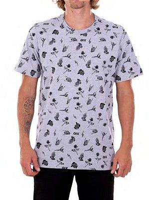 Camiseta Qix Skull hand mescla